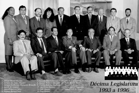 10ª Legislatura - 1993 a 1996 e Mesa Diretora