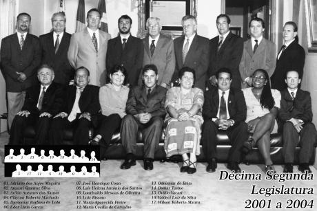 12ª Legislatura - 2001 a 2004 e Mesa Diretora