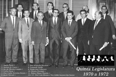 5ª Legislatura - 1970 a 1972 e Mesa Diretora